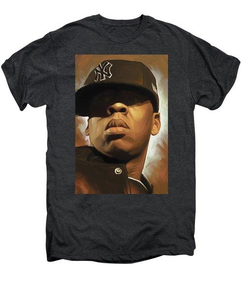Jay-z Artwork Men's Premium T-Shirt by Sheraz A