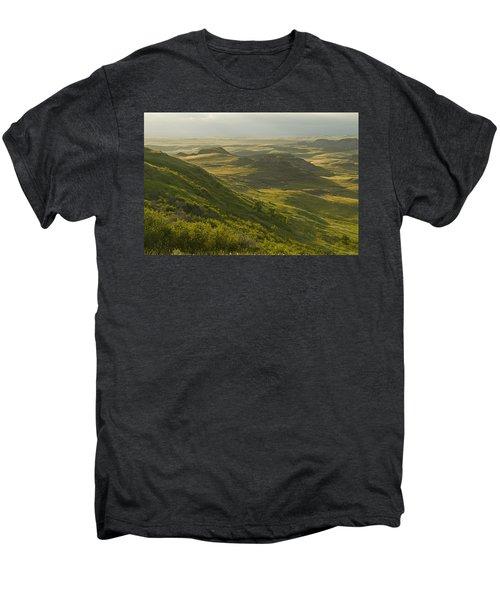 Killdeer Badlands In East Block Of Men's Premium T-Shirt by Dave Reede