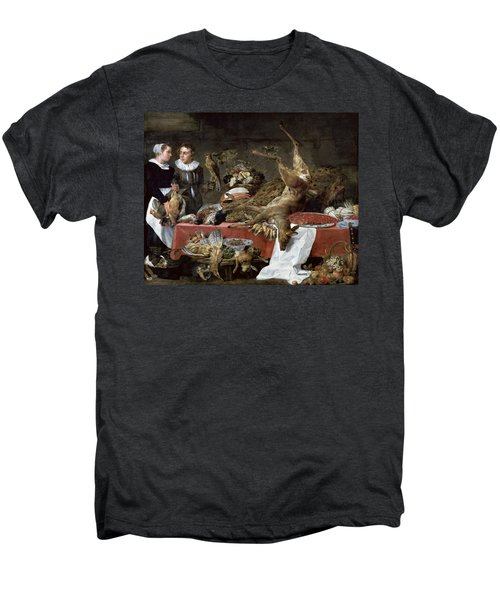 Le Cellier Oil On Canvas Men's Premium T-Shirt by Frans Snyders or Snijders
