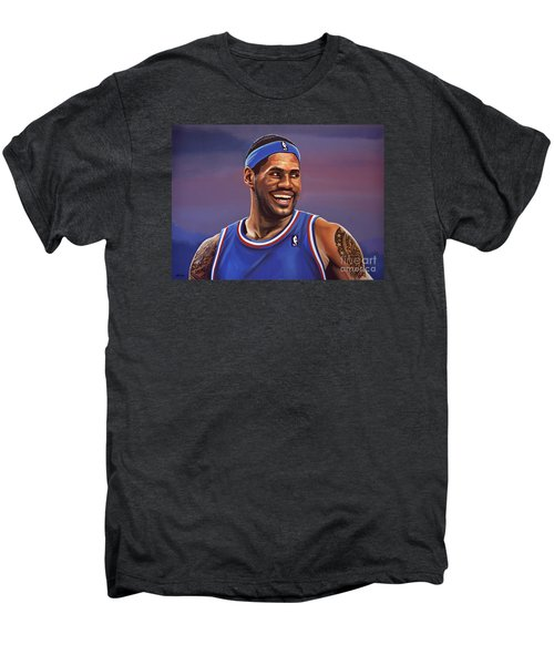 Lebron James  Men's Premium T-Shirt by Paul Meijering