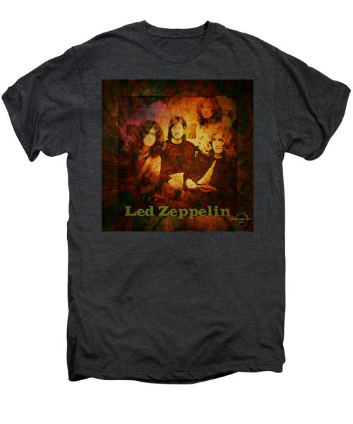 Led Zeppelin - Kashmir Men's Premium T-Shirt by Absinthe Art By Michelle LeAnn Scott