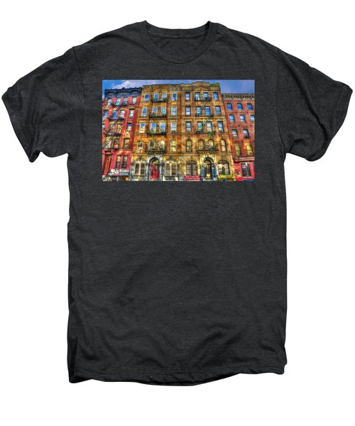 Led Zeppelin Physical Graffiti Building In Color Men's Premium T-Shirt by Randy Aveille