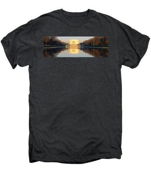 Lincoln Memorial & Reflecting Pool Men's Premium T-Shirt by Panoramic Images