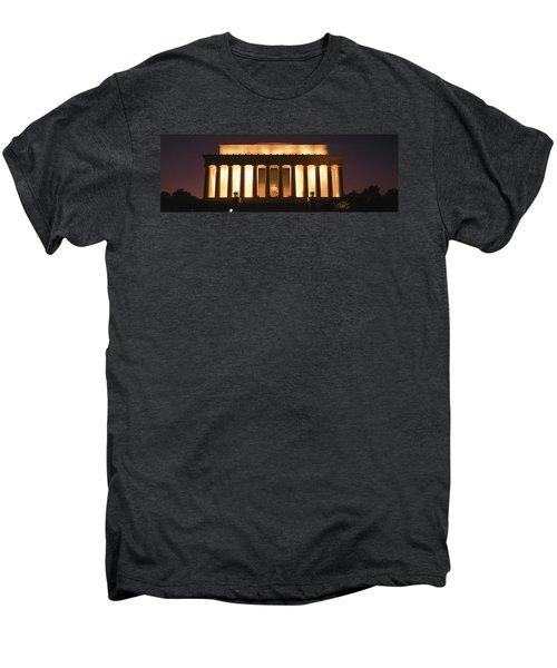 Lincoln Memorial Washington Dc Usa Men's Premium T-Shirt by Panoramic Images