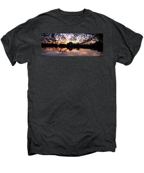 Memorial At The Waterfront, Jefferson Men's Premium T-Shirt by Panoramic Images