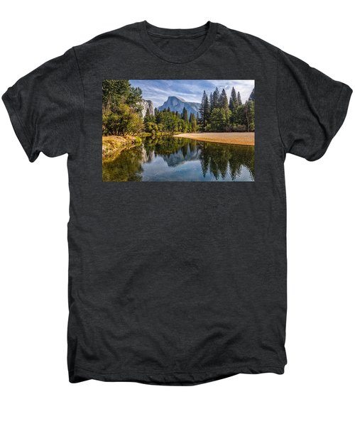 Merced River View II Men's Premium T-Shirt by Peter Tellone