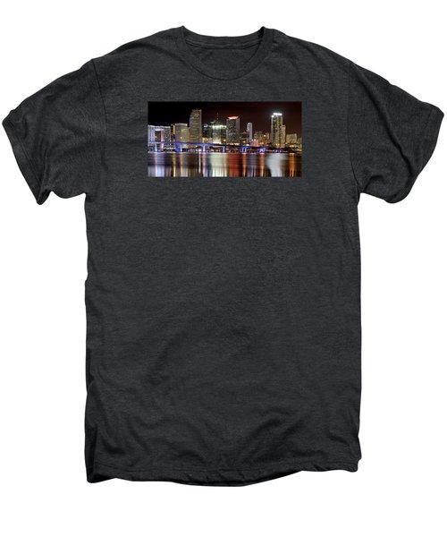 Miami Skyline Men's Premium T-Shirt by Brendan Reals