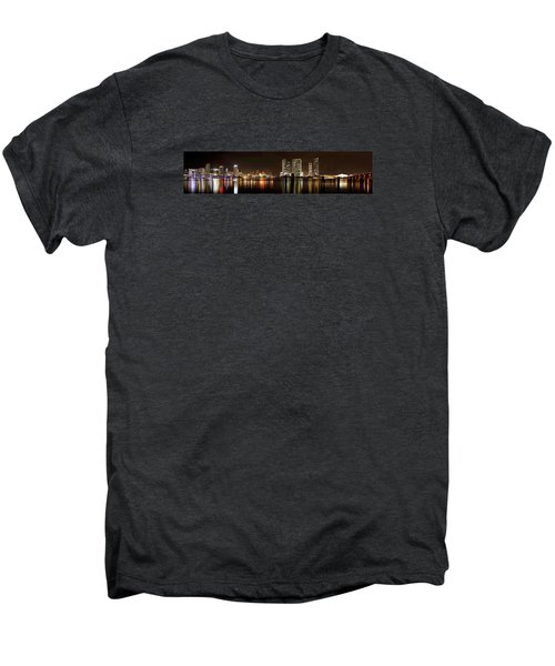 Miami - Skyline Panorama Men's Premium T-Shirt by Brendan Reals