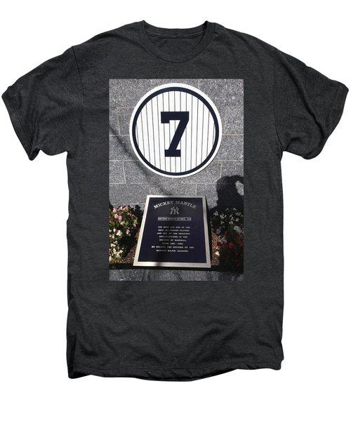 Mickey Mantle Men's Premium T-Shirt by Allen Beatty