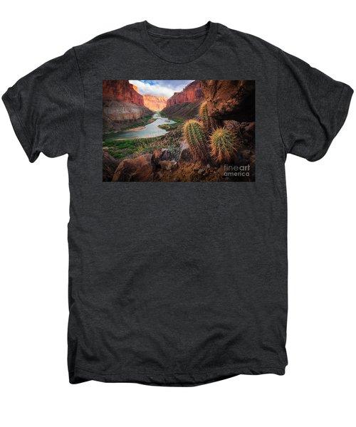 Nankoweap Cactus Men's Premium T-Shirt by Inge Johnsson