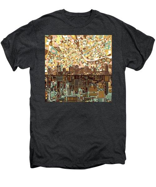 Nashville Skyline Abstract 4 Men's Premium T-Shirt by Bekim Art
