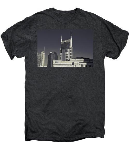 Nashville Tennessee Batman Building Men's Premium T-Shirt by Dan Sproul