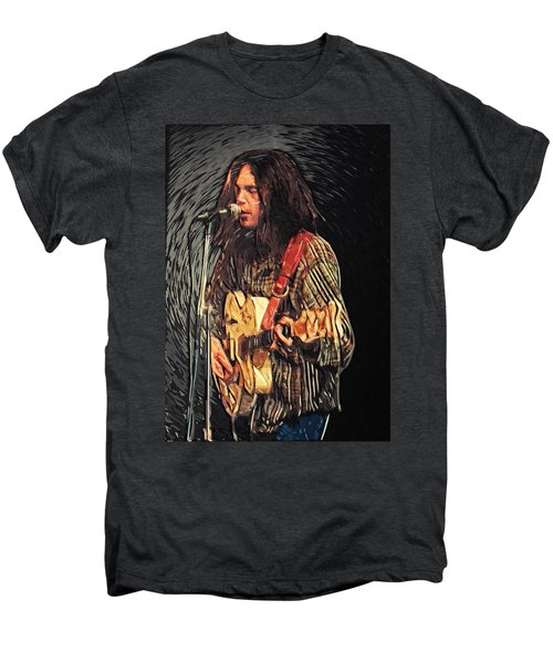 Neil Young Men's Premium T-Shirt by Taylan Soyturk