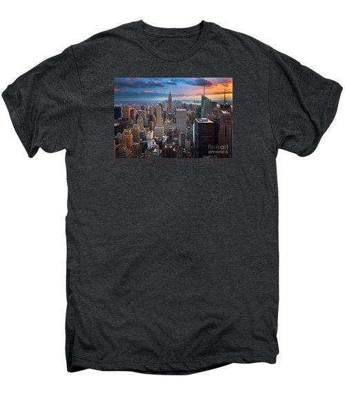 New York New York Men's Premium T-Shirt by Inge Johnsson