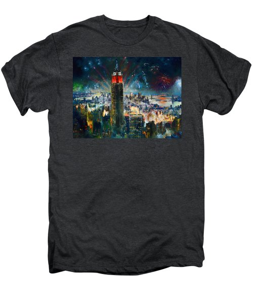 Nyc In Fourth Of July Independence Day Men's Premium T-Shirt by Ylli Haruni