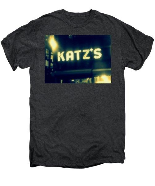 Nyc's Famous Katz's Deli Men's Premium T-Shirt by Paulo Guimaraes