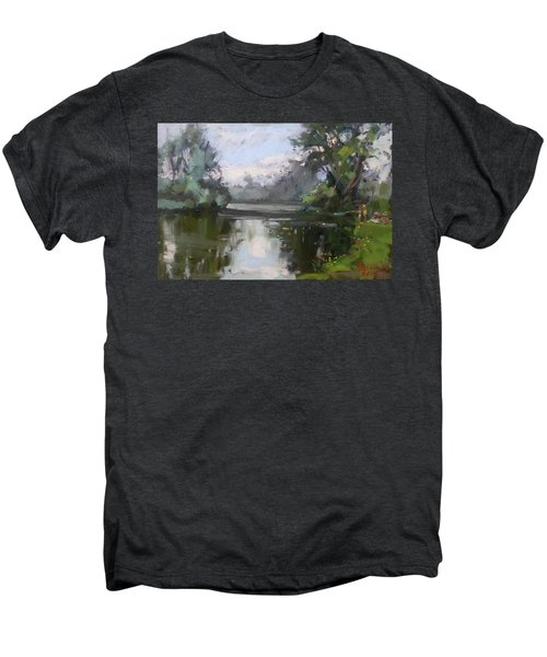 Outdoors At Hyde Park Men's Premium T-Shirt by Ylli Haruni