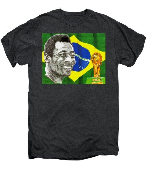 Pele Men's Premium T-Shirt by Cory Still