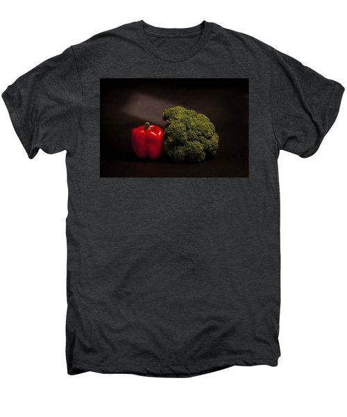 Pepper Nd Brocoli Men's Premium T-Shirt by Peter Tellone