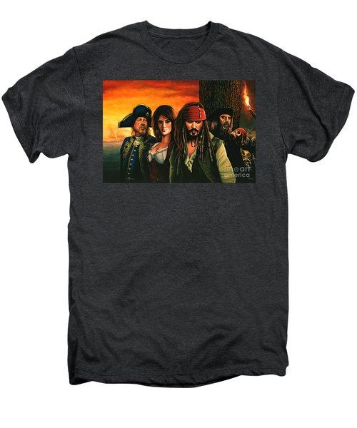 Pirates Of The Caribbean  Men's Premium T-Shirt by Paul Meijering