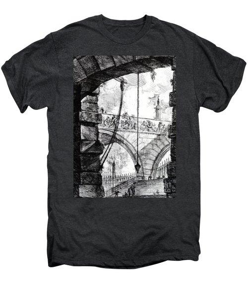 Plate 4 From The Carceri Series Men's Premium T-Shirt by Giovanni Battista Piranesi