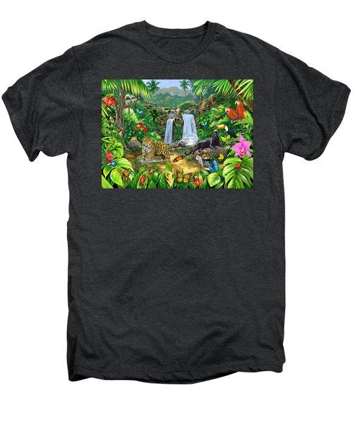 Rainforest Harmony Variant 1 Men's Premium T-Shirt by Chris Heitt