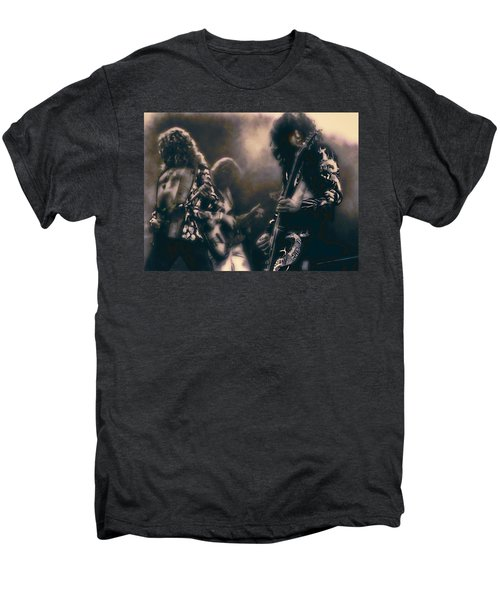 Raw Energy Of Led Zeppelin Men's Premium T-Shirt by Daniel Hagerman