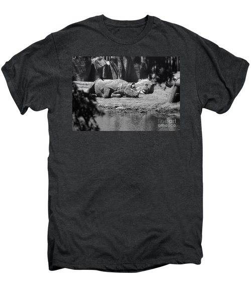 Rhino Nap Time Men's Premium T-Shirt by Thomas Woolworth