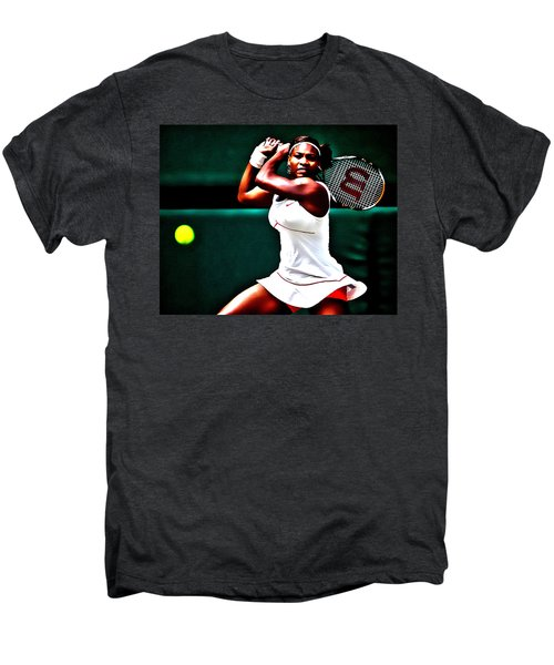Serena Williams 3a Men's Premium T-Shirt by Brian Reaves