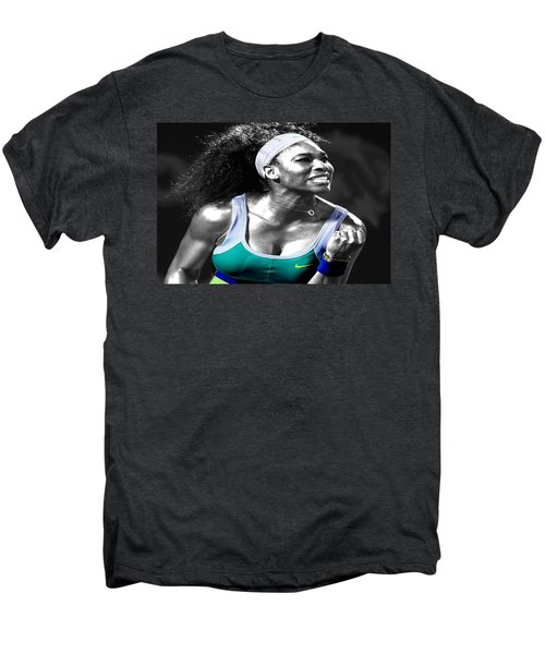 Serena Williams Ace Men's Premium T-Shirt by Brian Reaves