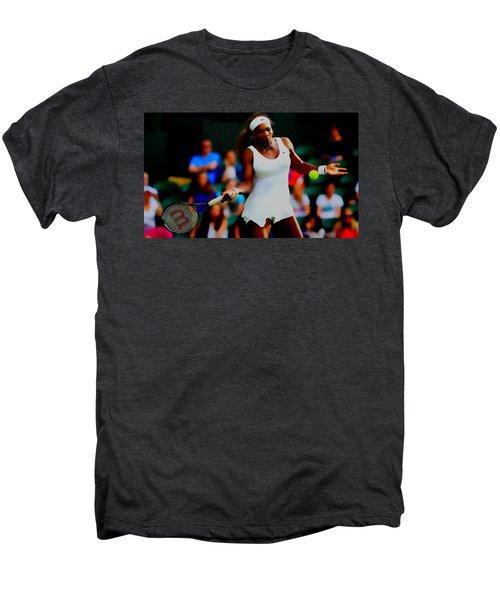 Serena Williams Making It Look Easy Men's Premium T-Shirt by Brian Reaves