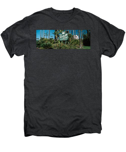 Signboard Of A Hotel, Beverly Hills Men's Premium T-Shirt by Panoramic Images