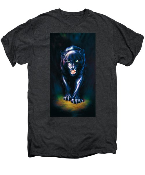 Stalking Panther Men's Premium T-Shirt by Andrew Farley