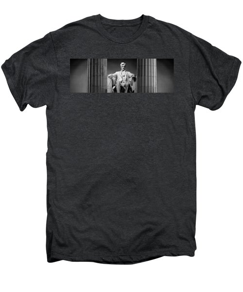 Statue Of Abraham Lincoln Men's Premium T-Shirt by Panoramic Images