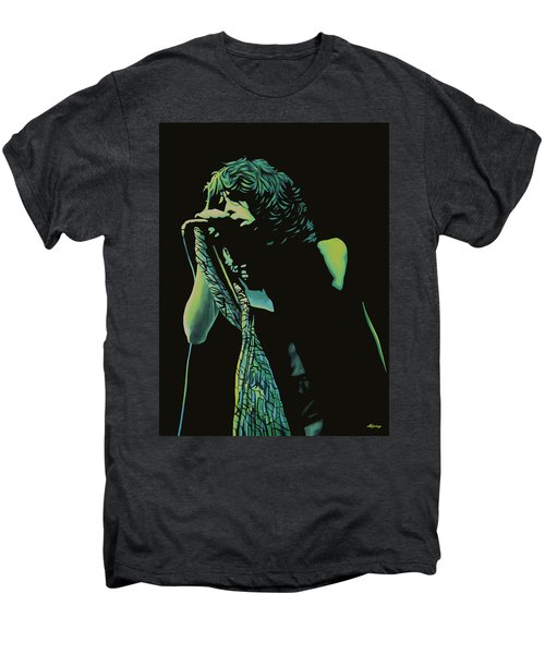 Steven Tyler 2 Men's Premium T-Shirt by Paul Meijering