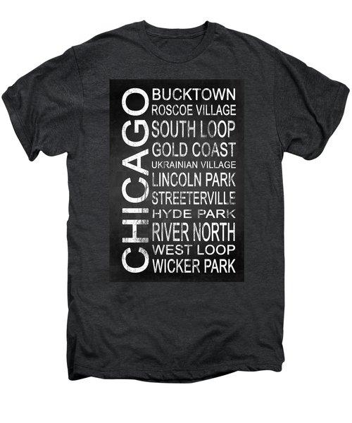 Subway Chicago 2 Men's Premium T-Shirt by Melissa Smith