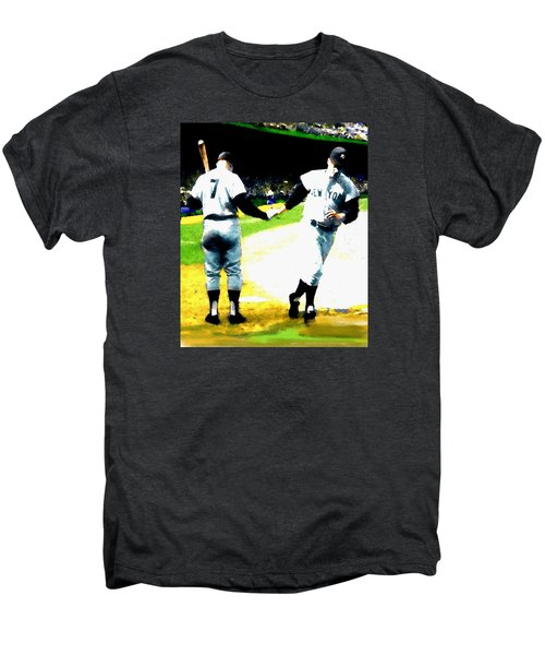 Summer Of The Gods  Iv 1961 Mickey Mantle Men's Premium T-Shirt by Iconic Images Art Gallery David Pucciarelli
