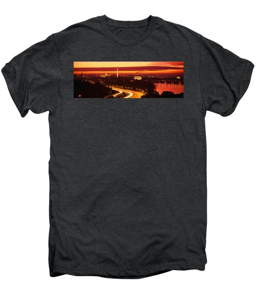 Sunset, Aerial, Washington Dc, District Men's Premium T-Shirt by Panoramic Images