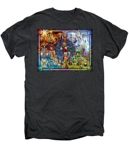 Tarot Of Dreams Men's Premium T-Shirt by Ciro Marchetti