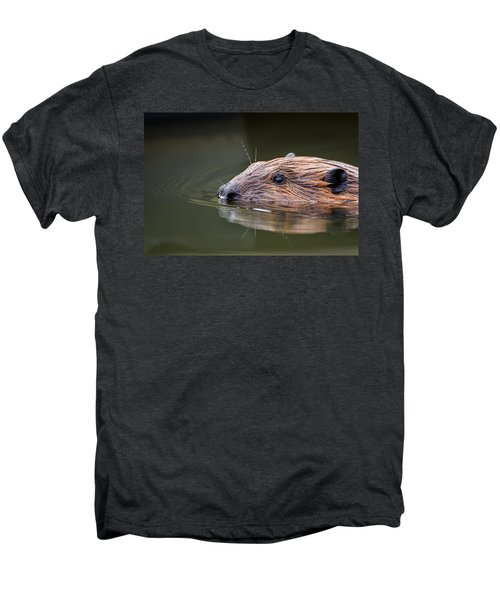 The Beaver Men's Premium T-Shirt by Bill Wakeley