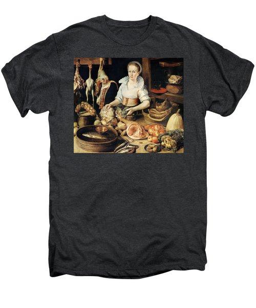The Cook Men's Premium T-Shirt by Pieter Cornelisz van Rijck