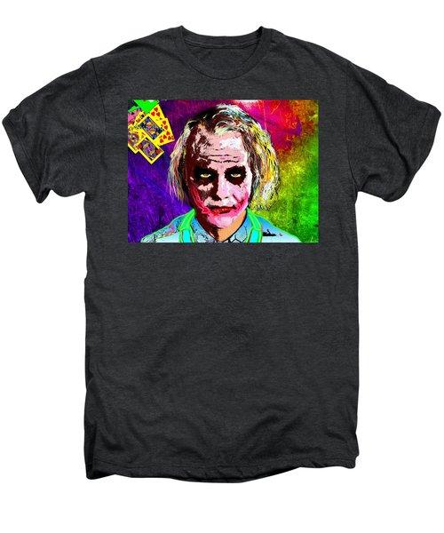 The Joker - Heath Ledger Men's Premium T-Shirt by Daniel Janda