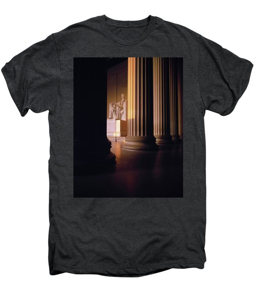 The Lincoln Memorial In The Morning Men's Premium T-Shirt by Panoramic Images