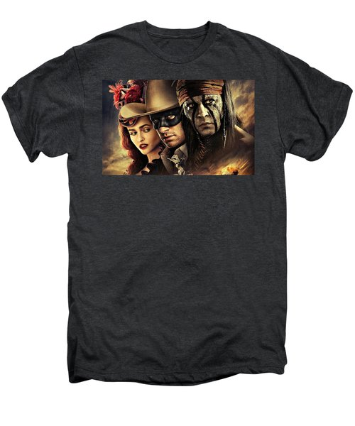 The Lone Ranger Men's Premium T-Shirt by Movie Poster Prints