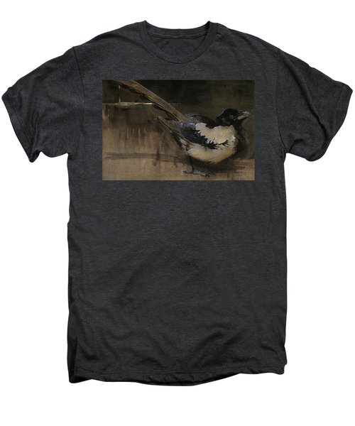 The Magpie Men's Premium T-Shirt by Joseph Crawhall