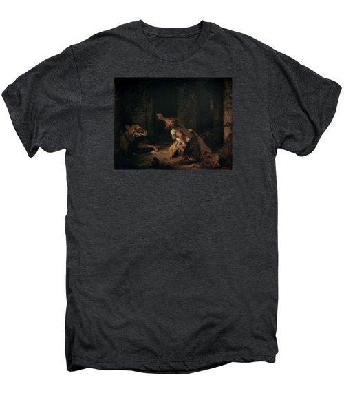 The Prisoner Of Chillon Men's Premium T-Shirt by Ferdinand Victor Eugene Delacroix