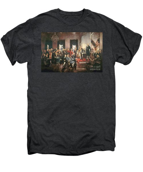 The Signing Of The Constitution Of The United States In 1787 Men's Premium T-Shirt by Howard Chandler Christy