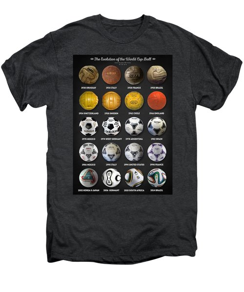 The World Cup Balls Men's Premium T-Shirt by Taylan Soyturk