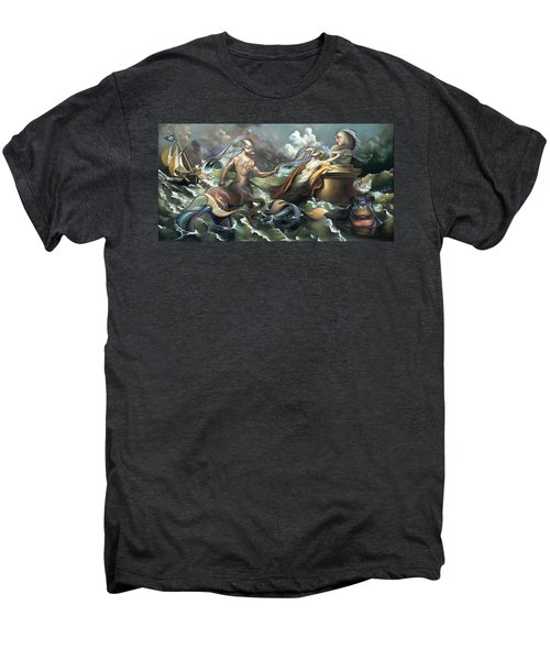There's Something Fowl Afloat Men's Premium T-Shirt by Patrick Anthony Pierson