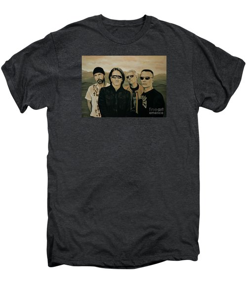 U2 Silver And Gold Men's Premium T-Shirt by Paul Meijering